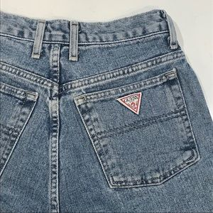 VTG Guess High Waist Acid Wash Jean Denim Shorts